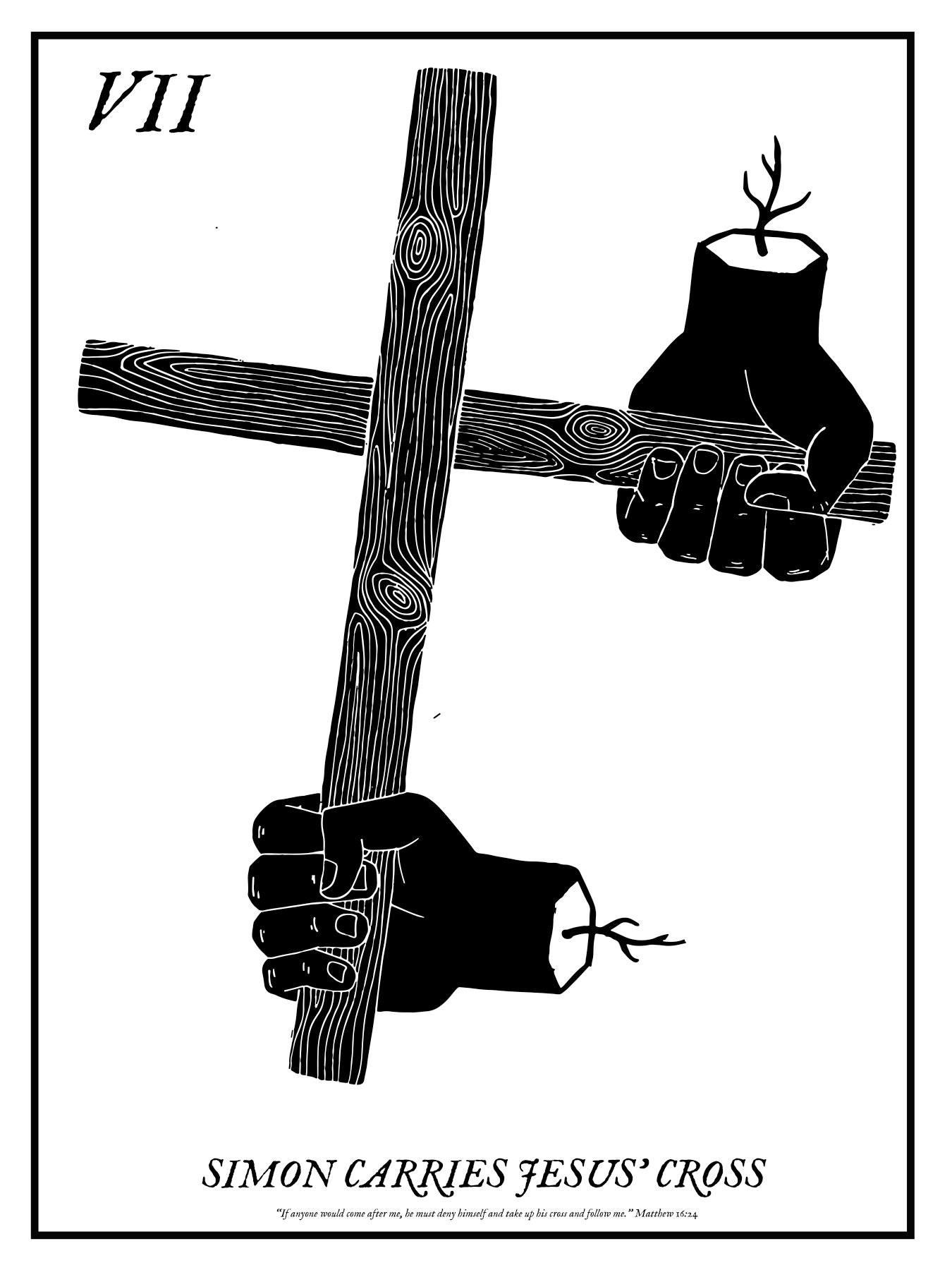 VII. SIMON CARRIES JESUS' CROSS
